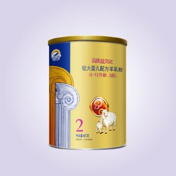 百跃益贝比配方羊奶粉2段 400g